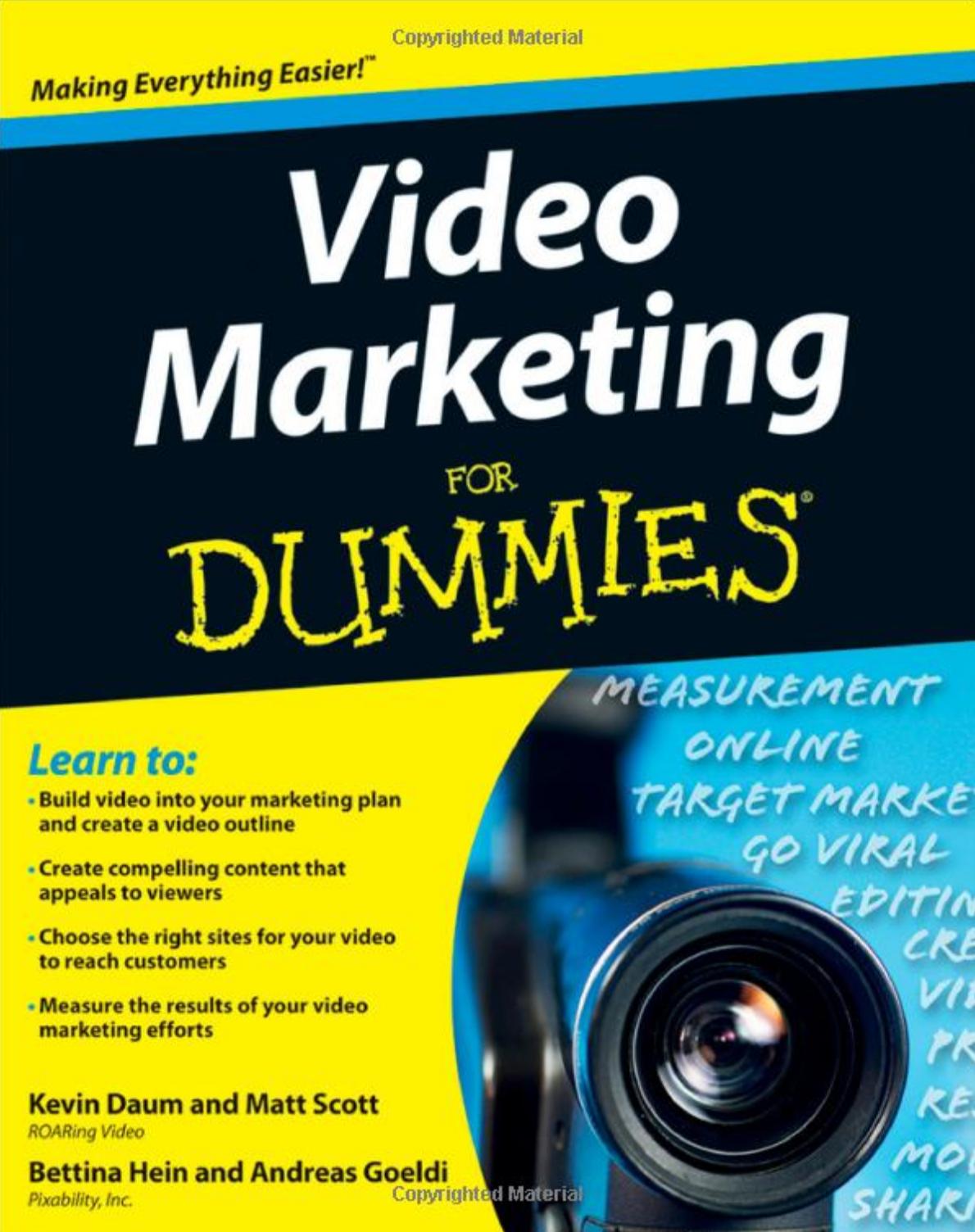 Video Marketing for Dummies - Kevin Daum